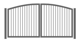 Zwei flügliges gebogenes Tor