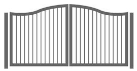 Zwei flügliges geschwungenes Tor